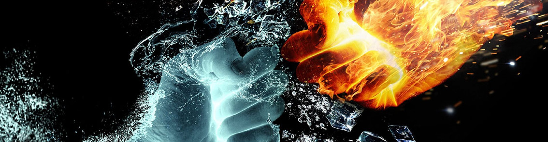 fire and water fists battle|
