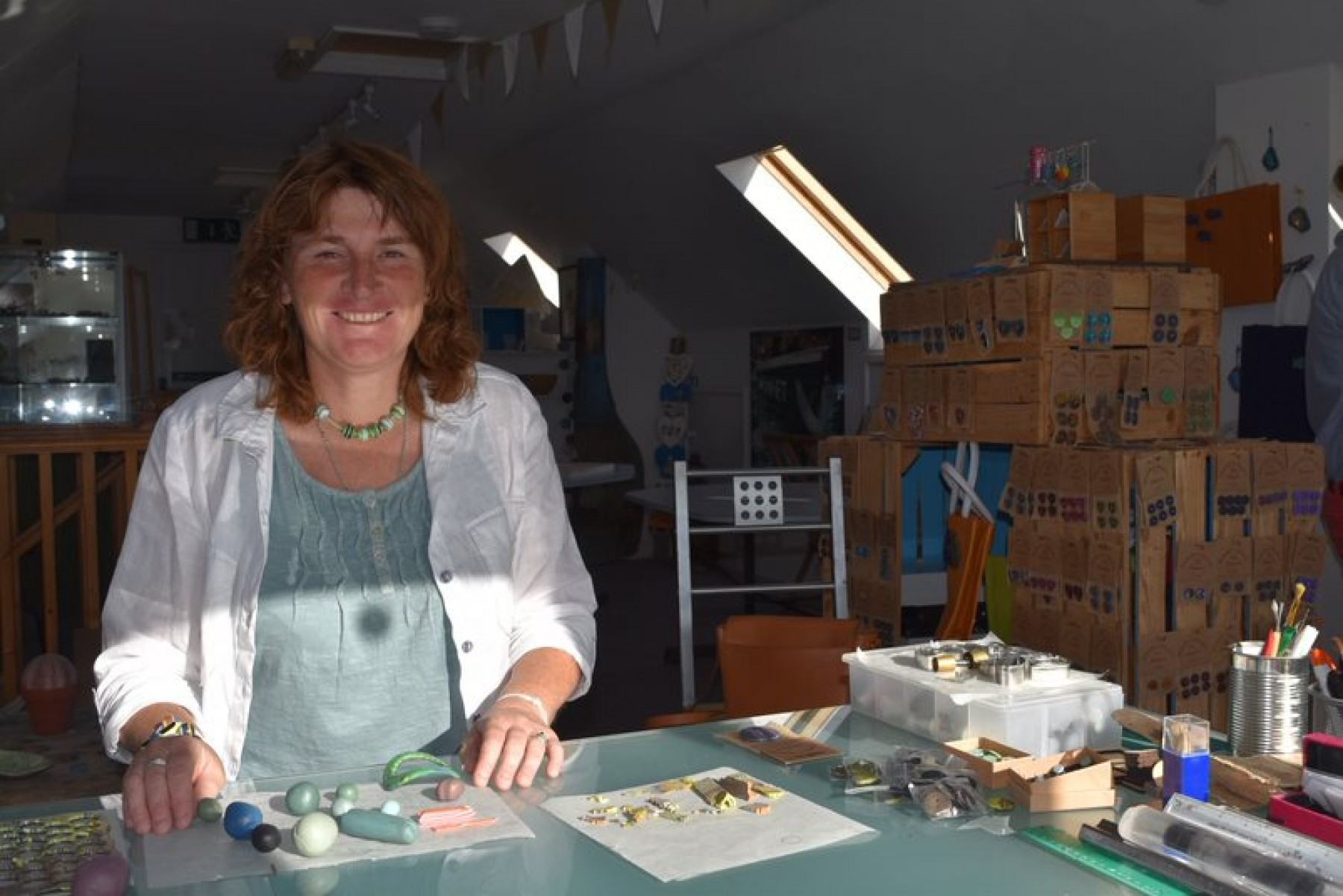Emma Kate in her studio