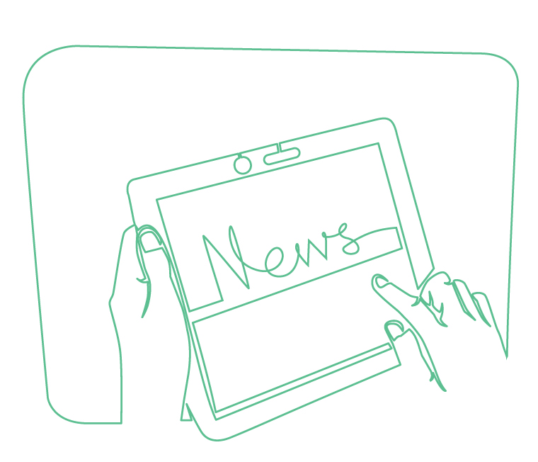 News on a tablet illustration