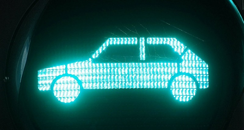 car icon light up in green light