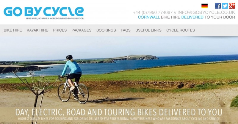 screenshot from go bicycle website