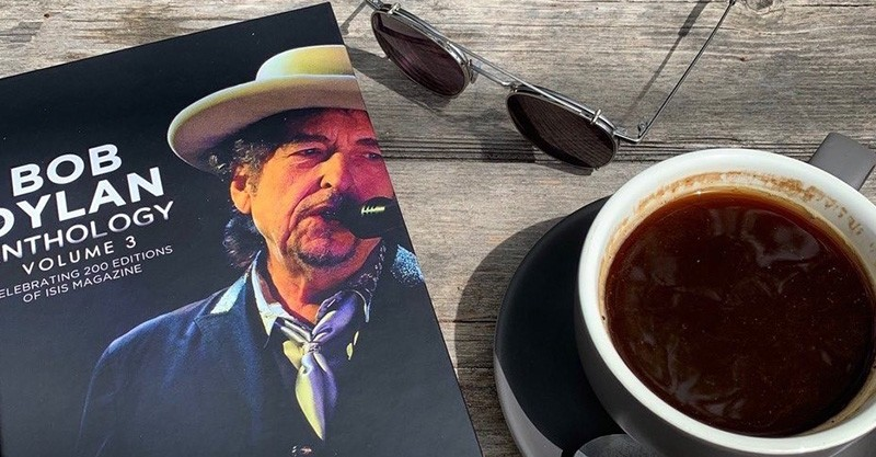 Bob Dylan book and coffee