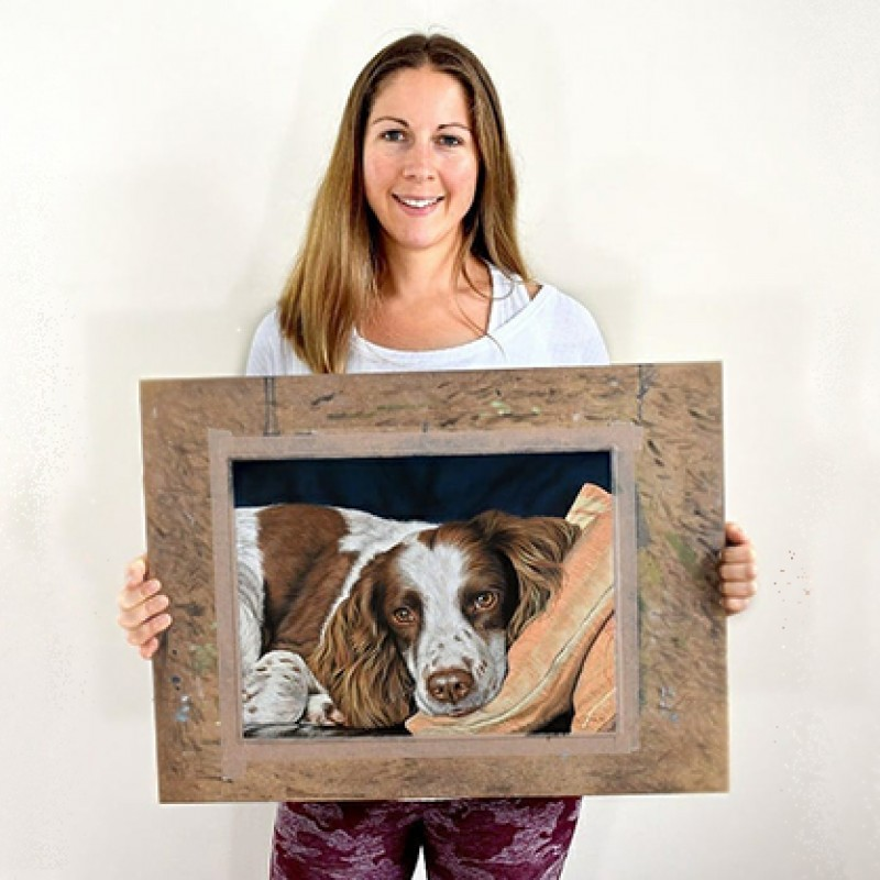 Naomi Jenkin with Pet Portrait